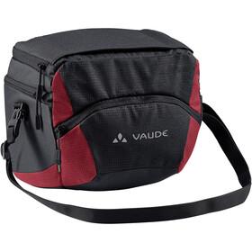 VAUDE OnTour Box L Bag Klickfix ready, negro/rojo